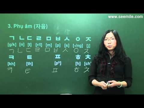 Học chữ cái tiếng Hàn kèm theo giáo trình tiếng Hàn tổng hợp