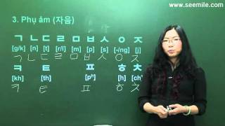 (Vui học hội thoại tiếng Hàn) 2.Bảng chữ cái 한글 모음, 자음 by seemile.com