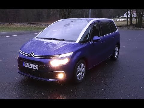 Citroen C4 GRAND PICASSO TOP SPEED ! and others features review