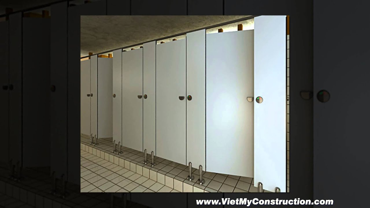 TOILET PARTITIONS YouTube - Commercial bathroom stall door locks