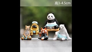 [유튜브 만물상] 귀여운 책상 장식용 동물 사우나 미니…