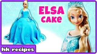 Disney Frozen Sparkle Princess Elsa Doll Cake | Birthday Cake | HooplaKidz Recipes
