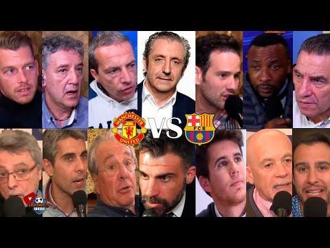 ASÍ VIVIMOS el Manchester United VS. Barça con EL CHIRINGUITO   IDA CUARTOS CHAMPIONS