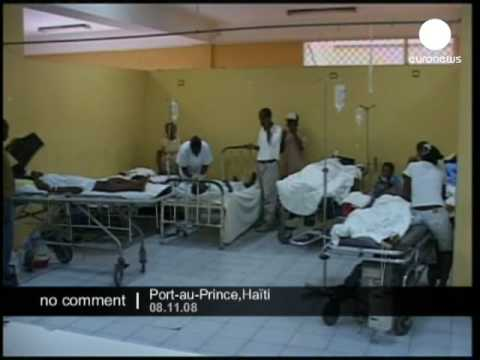 Injured children in Port-au-Prince hospital after a school collapse