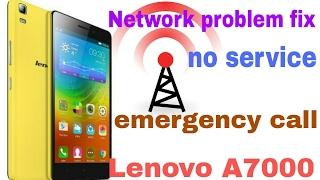 Lenovo A7000a no signal no service solve 100%