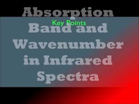 Absorption Band and Wavenumbers in Infrared Spectra