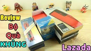 """Mở hộp quà """"KHỦNG"""" từ Lazada, toàn đồ điện tử"""