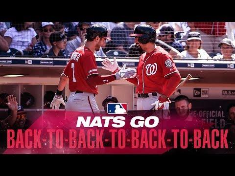 Nats go back-to-back-to-back-to-back
