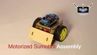 Motorized Sumobot Assembly
