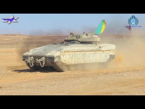 Israel MOD - Namer Heavy IFV With 30mm Autocannon Turret Testing [1080p]