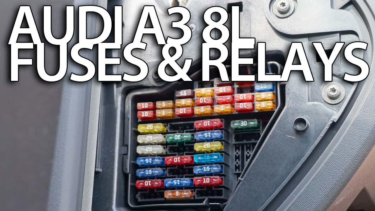 where are fuses and relays in audi a3 8l (cabin and engine fuse box  location) - youtube