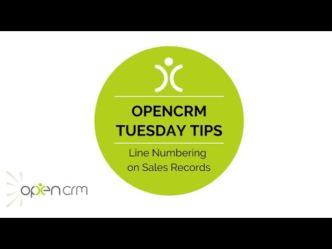 Tuesday Tip - Line Numbering on Sales Records