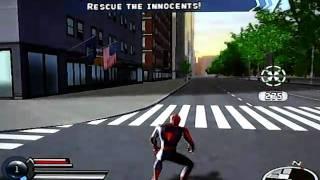 Spiderman 3 wii Walkthrough Part 4 - Mega Lagartos en el parque central
