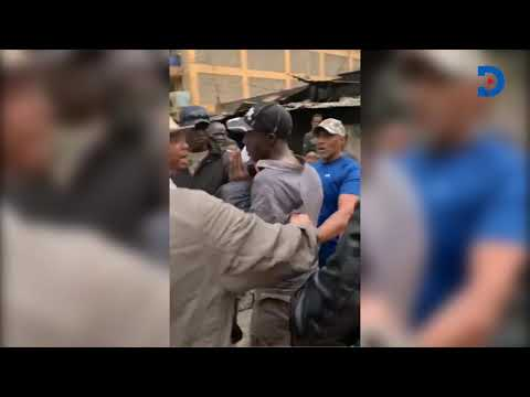 Mike Sonko caught on camera slapping a man in Madiwa area Eastleigh
