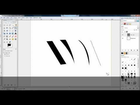 Different Lines With Paths Tool (GIMP)