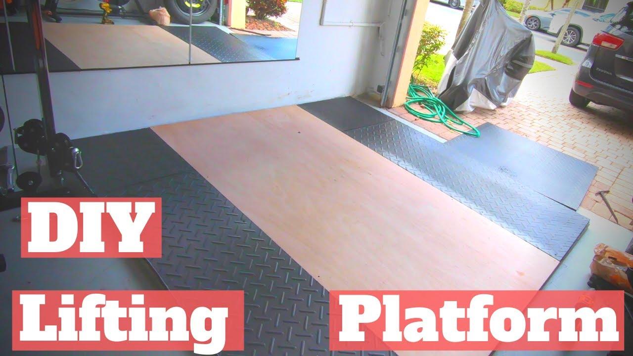 Garage Gym Lifting Platform To Level, Level Garage Floor For Gym