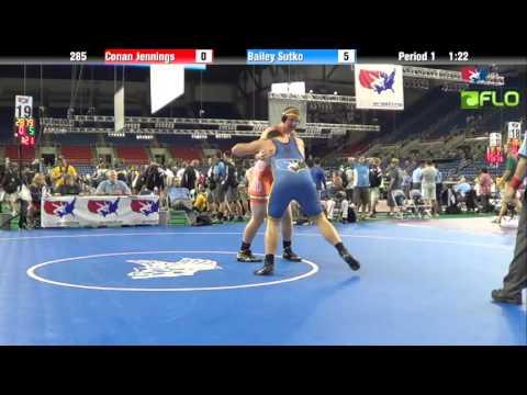 Junior 285 - Conan Jennings (Ohio) vs. Bailey Sutko (Missouri)