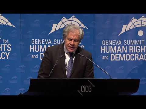 Luis Almagro at Geneva Summit 2018
