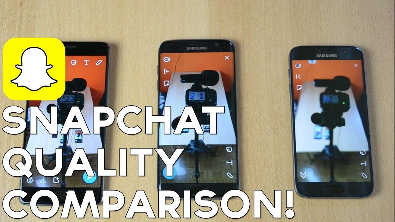 OnePlus 3 vs  Samsung Galaxy S7 vs  S7 EDGE Snapchat Quality Comparison!