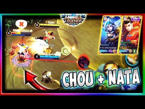 Chou + Natalia (  XÞ  ●υитα● ) = AUTOWIN?   Mobile Legends   National Arena Malaysia vs Indonesia