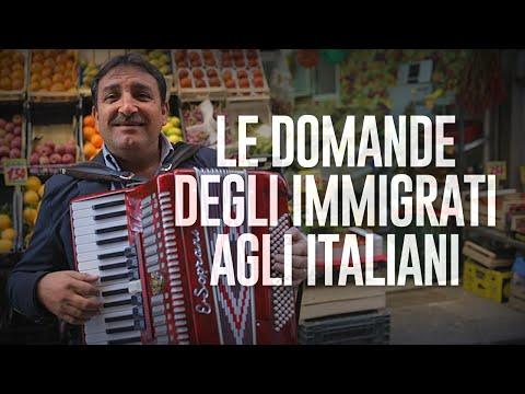 LE DOMANDE DEGLI IMMIGRATI AGLI ITALIANI