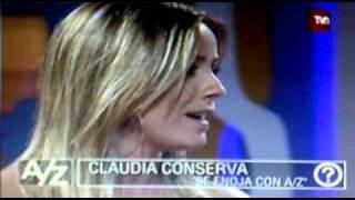 CLAUDIA CONSERVA SE ENOJA DE BROMA