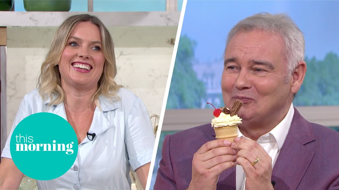 Juliet Sear's Ice Cream Cake Illusion Is Perfect For the Summer!   This Morning