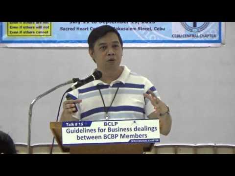 CLP-8 Talk 15 - Guidelines for Business dealings between BCBP Members