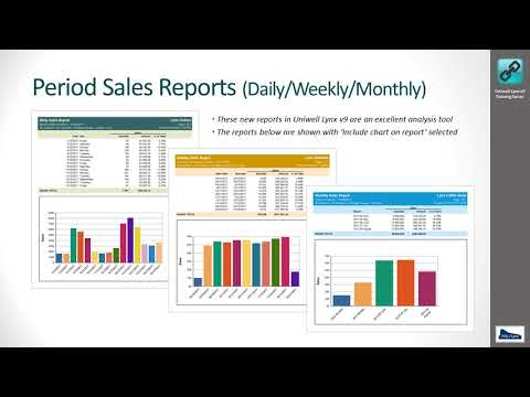 Uniwell Lynx v9 Training - Sales Analysis Reports