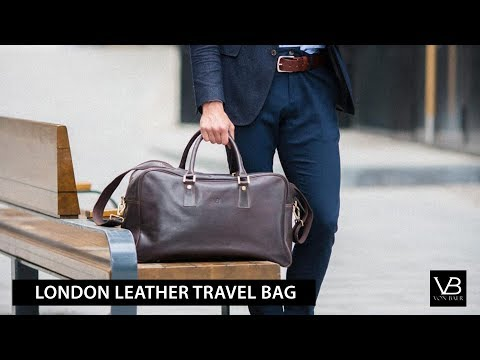 London Leather Travel Bag / Gym Holdall from Von Baer UK