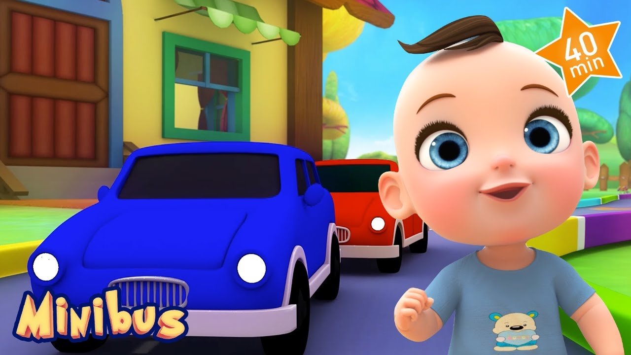 Toy Cars + more Nursery Rhymes with Vehicles for Children | Minibus
