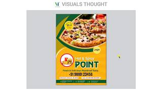 Food flyer design | menu design in corel draw x7