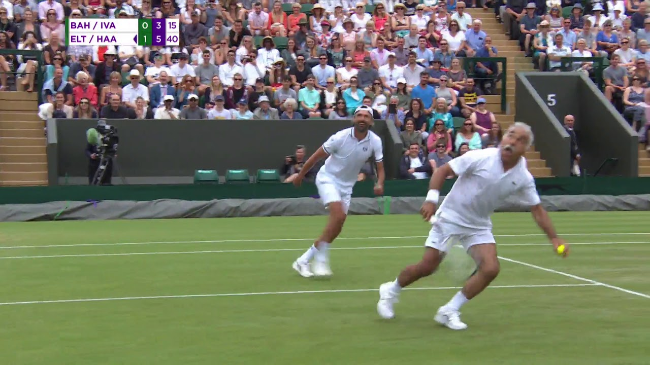 Mansour Bahrami being Mansour Bahrami at Wimbledon 2018