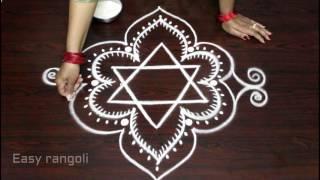 easy rangoli designs freehand || kolam designs without dots || freehand muggulu designs