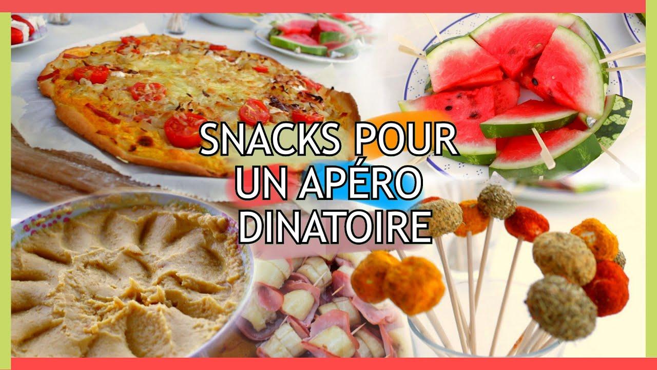 Diy id es de snacks pour un ap ritif dinatoire claire youtube - Idee pour un apero dinatoire ...