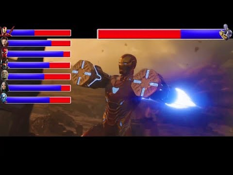 AVENGERS INFINITY WAR - Battle On Titan ... With Healthbars | Avengers Vs Thanos (HD)