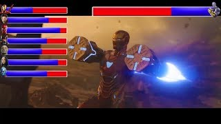 AVENGERS INFINITY WAR - Battle on Titan  With Healthbars  Avengers vs Thanos HD