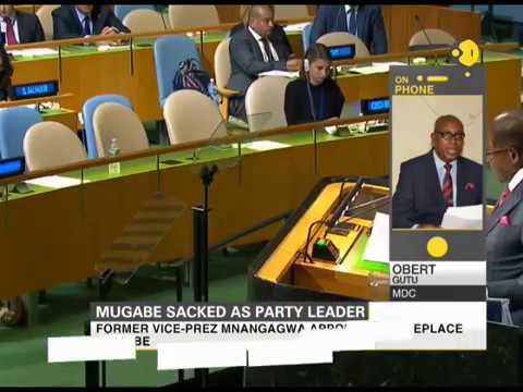 Zanu-PF Party sacks Robert Mugabe as a party leader