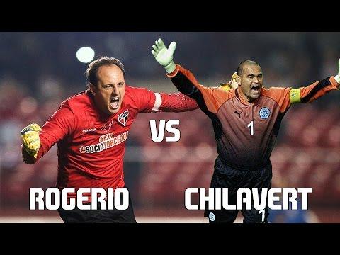 Jose Luis CHILAVERT vs ROGERIO Ceni//Batallas de Leyendas/Highlights HD