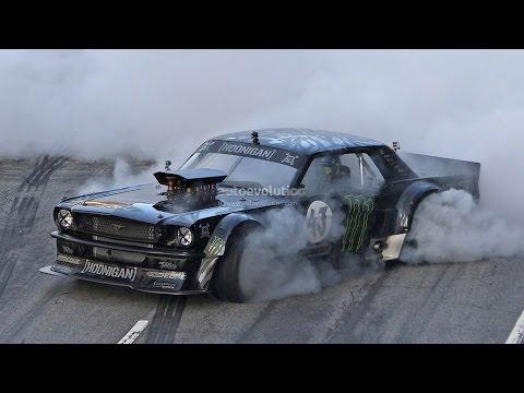 Monster Rally Car Wallpaper Gymkhana 7 Ken Block Drifting 1965 Mustang In La Photos