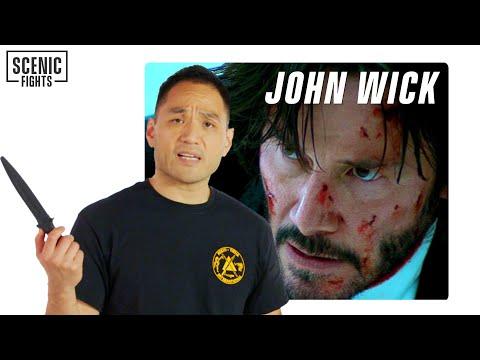 Knife Expert Breaks Down John Wick's Knife Skills   Scenic Fights