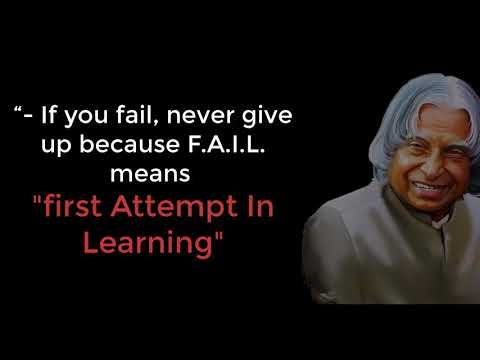 APJ Abdul Kalam FAIL Quotes| New APJ Abdul Kalam sir Motivational Whatsapp status & Quote
