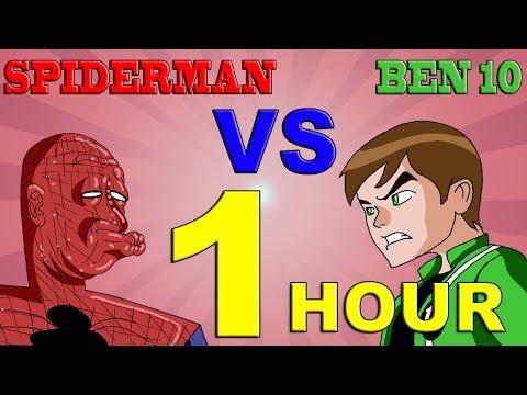 Ben 10 Vs Spiderman 1 Hour Version
