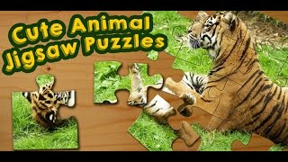 Cute Animals Jigsaw Puzzles Game for Kids - App Gameplay Video screenshot 1
