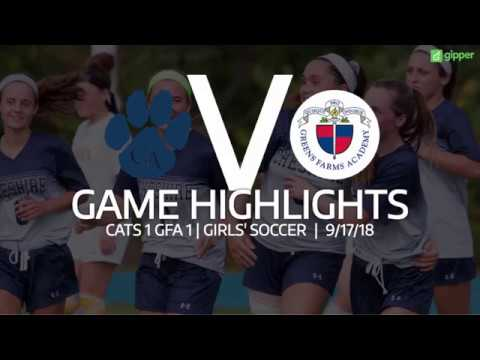 Cheshire Academy girls soccer vs. Greens Farms Academy 9/17/18