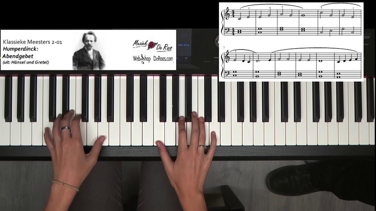 Piano Classics 2, 1: Humperdinck, Abendgebet, Play along, Learn to play,  score bladmuziek
