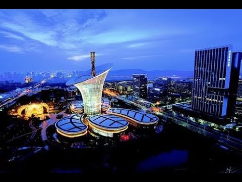 Aerial drone views over Wuhan, China 航拍武汉市城市风光集锦