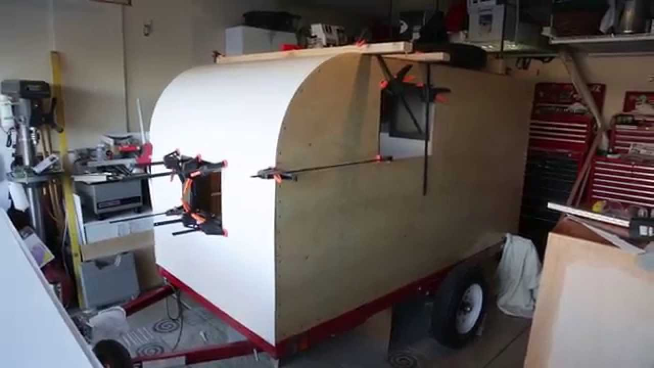 Teardrop Trailer Build Aluminum Skin