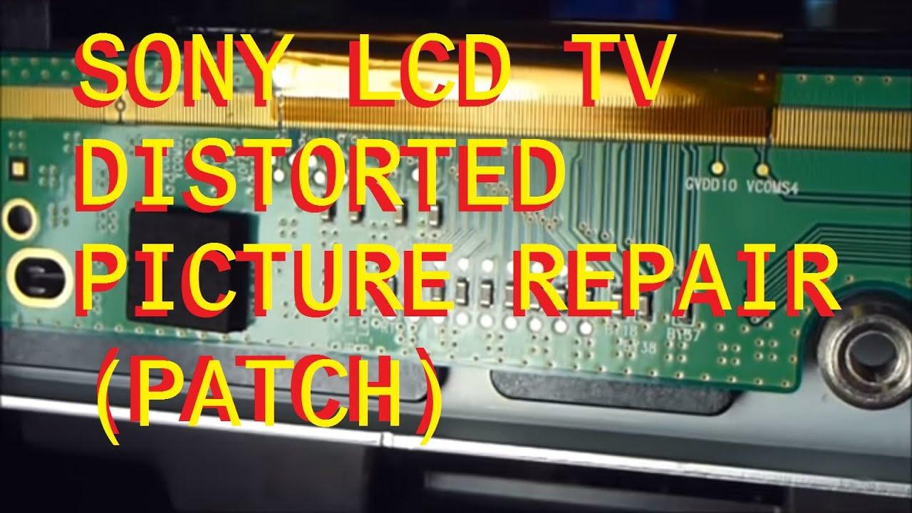 Sony Kdl 46vl130 Lcd Tv With A Bad Lcd Panel Dark Black
