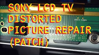 Sony KDL-46VL130 LCD TV with a bad LCD Panel Dark - Black - White Distorted Shaded Picture